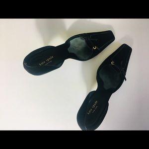 Kate spade size 10 black Seude kitten heels